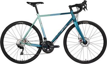 All-City Cosmic Stallion Bike - Blue/Green Stripe